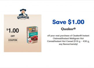 Quaker-Instant-Oatmeal-Coupons